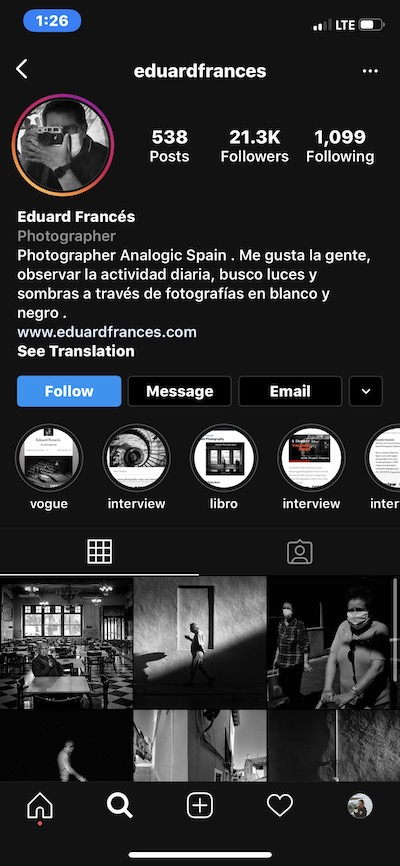Black and white Instagram theme