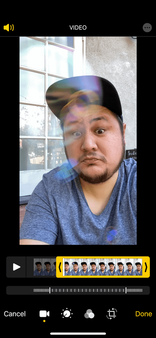 How to trim a slow-motion selfie on iPhone