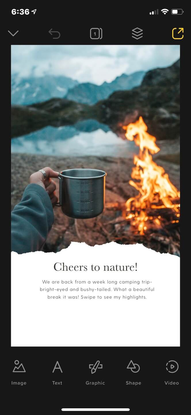 Cheers to nature, a Story template for Instagram