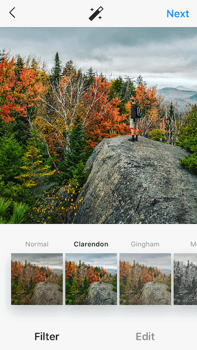 Clarendon, one of the best Instagram filters for photos of nature