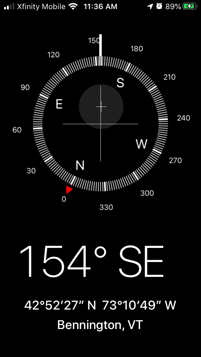 iPhone tips for beginners: Use the compass to set up a shot