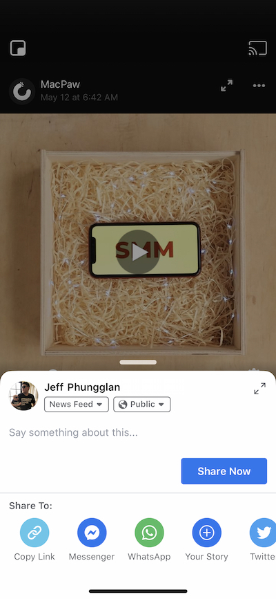How to save a video to iPhone from Facebook