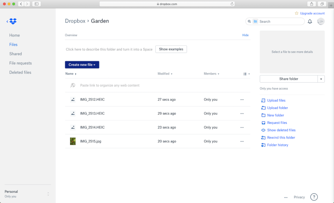 Dropbox, a tool to share pictures online