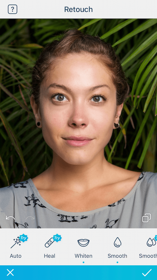 An after photo featuring a portrait that has been edited using the Facetune2 App