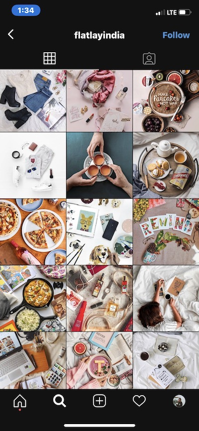 Insta feed ideas: Flatlay