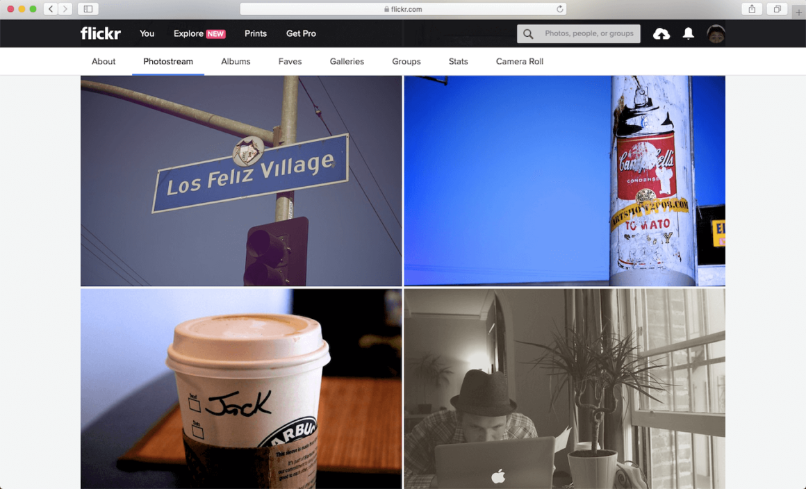 Flickr, one of the free photo sharing sites