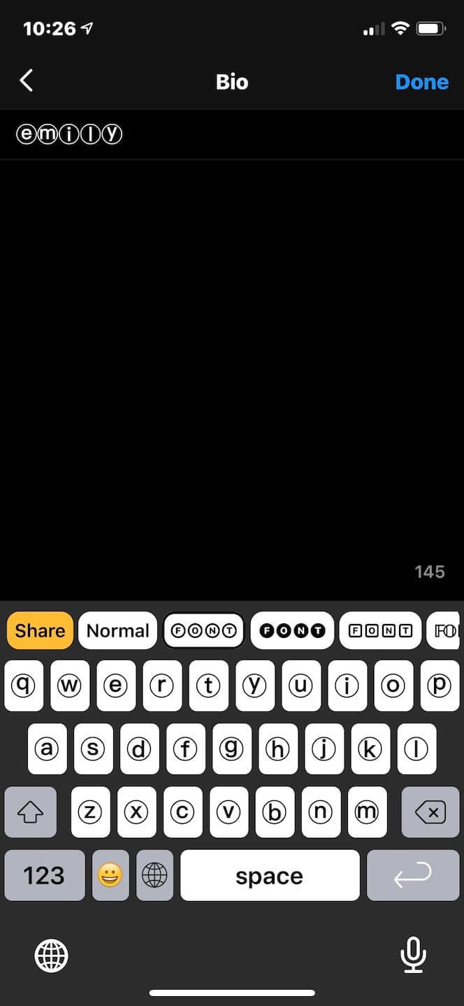 Fonts for Instagram Keyboard, an Instagram font changer app