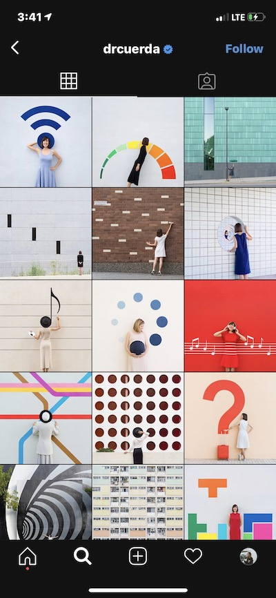 A geometric Insta feed by @drcuerda