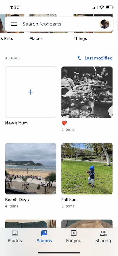 How to create a new album in Google Photos