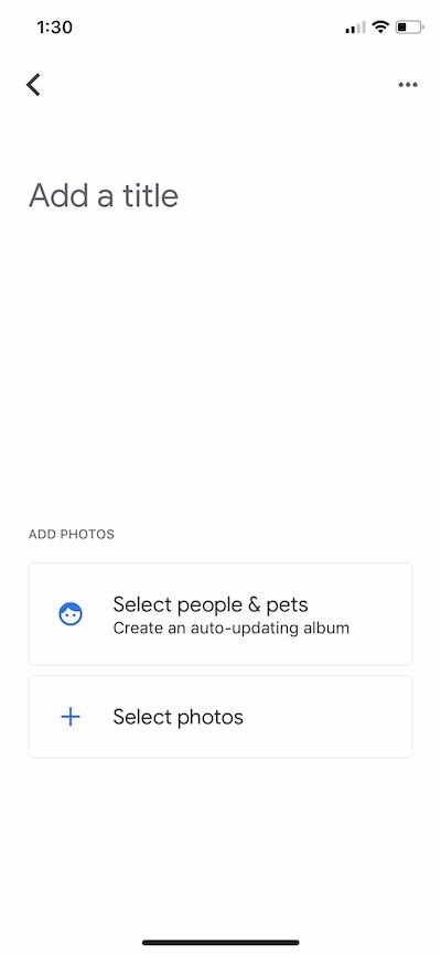 Adding an albumin Google Photos