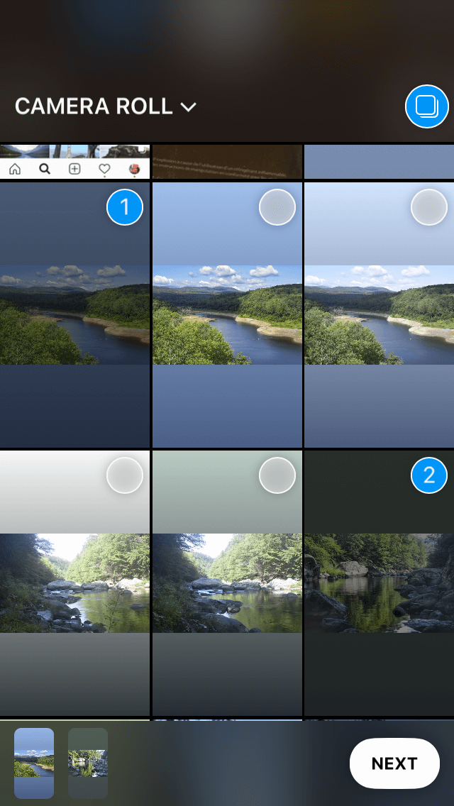 How to add multiple images to Stories