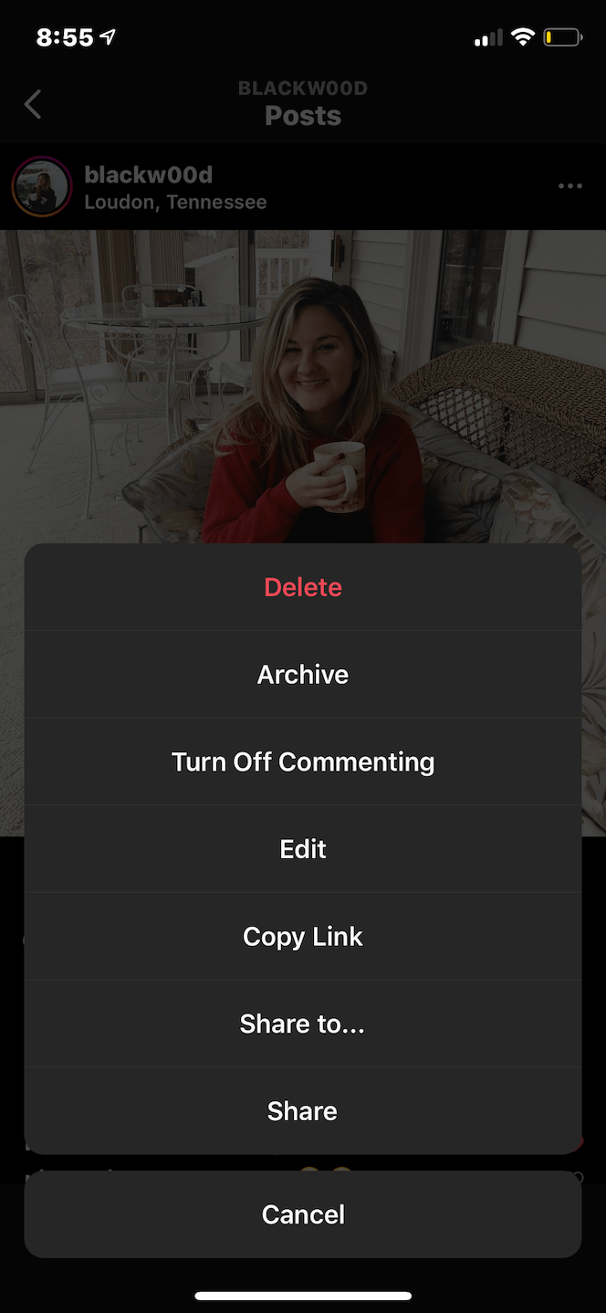 How to delete your post on Instagram