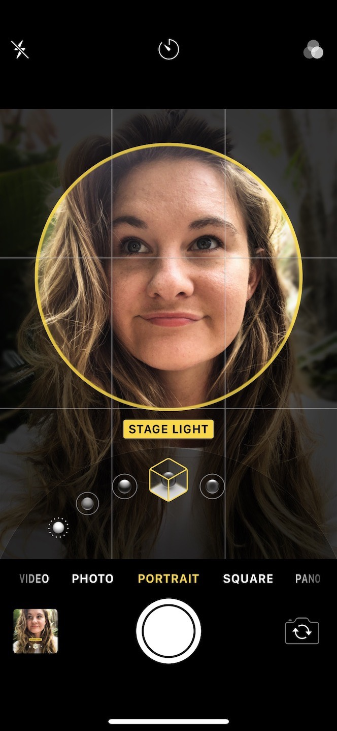 How to adjust the light when shooting an iPhone portrait