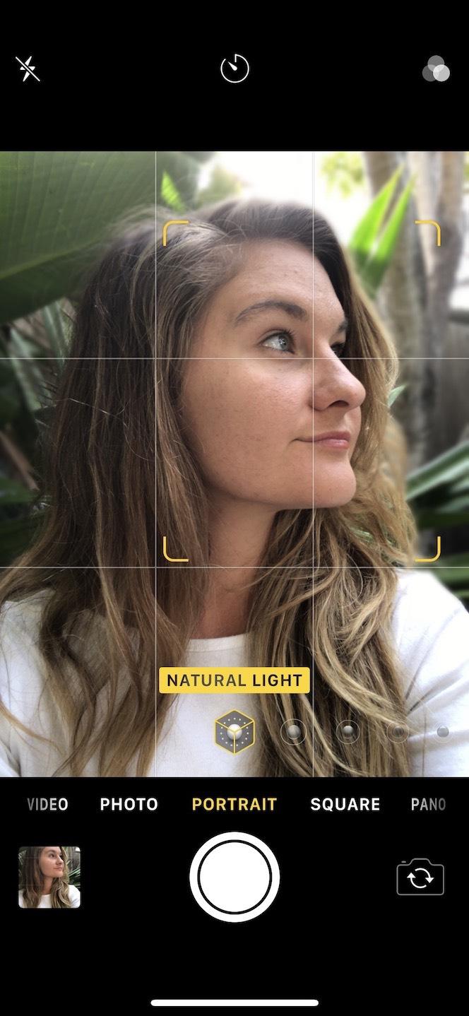 iPhone Camera in Portrait mode