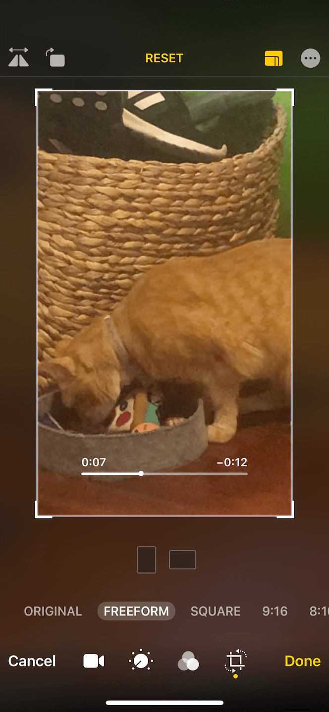 How to crop a video to the right resolution for Instagram