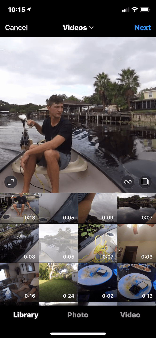 What is the right aspect ration for an Instagram video post?