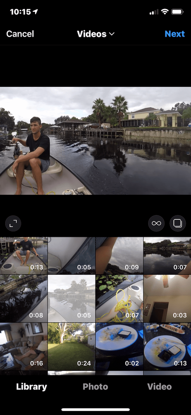 How to change the aspect ratio of a video for an Instagram post