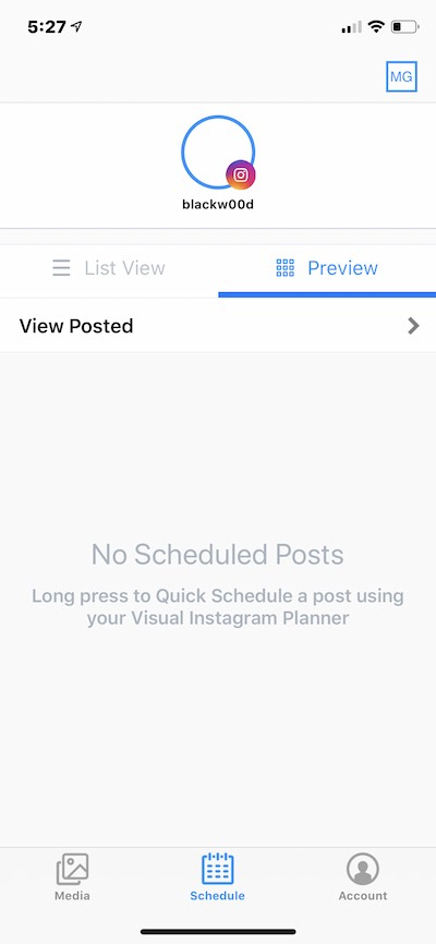 Later, an iPhone app for scheduling posts