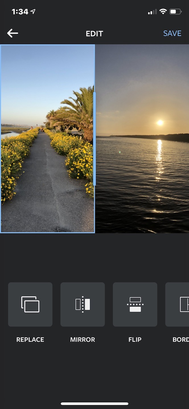An Instagram post design in the Layout app