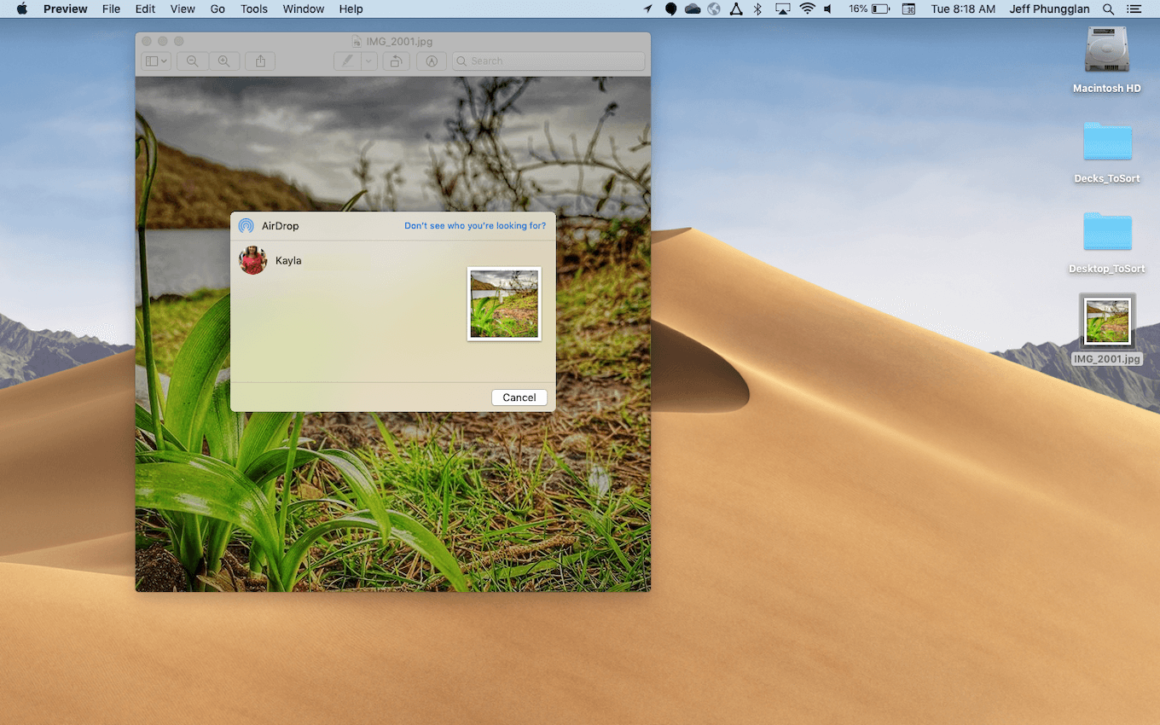 How to AirDrop photos from your Mac to your iPhone