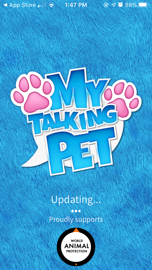 My Talking Pet, one of the best GIF apps for iPhone