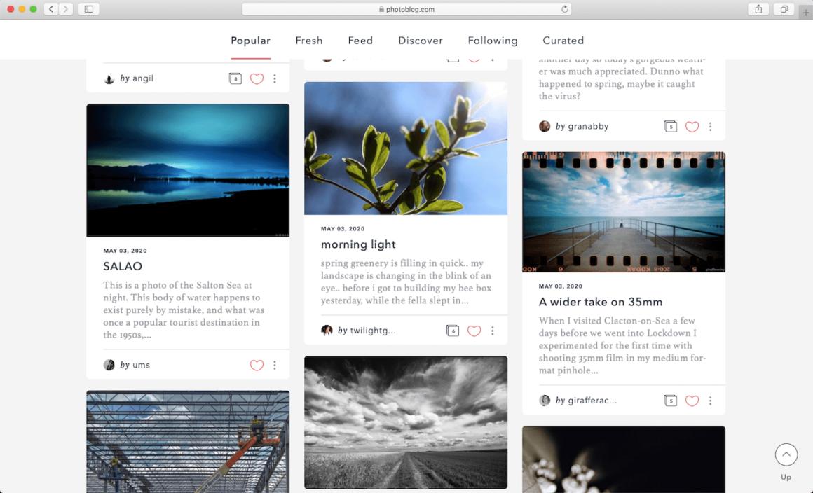 PhotoBlog, a website to share images online