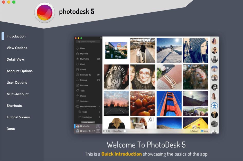 PhotoDesk, an Instagram app for Mac