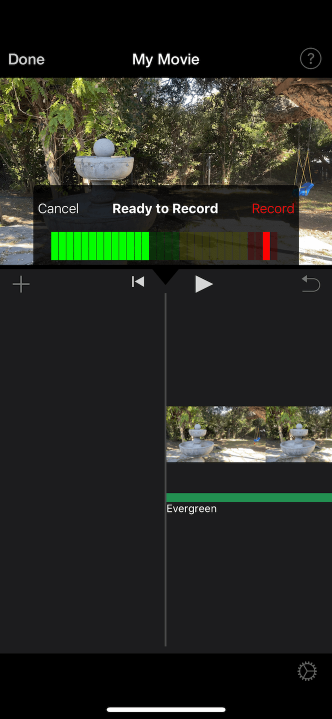 How to record voiceover in iMovie