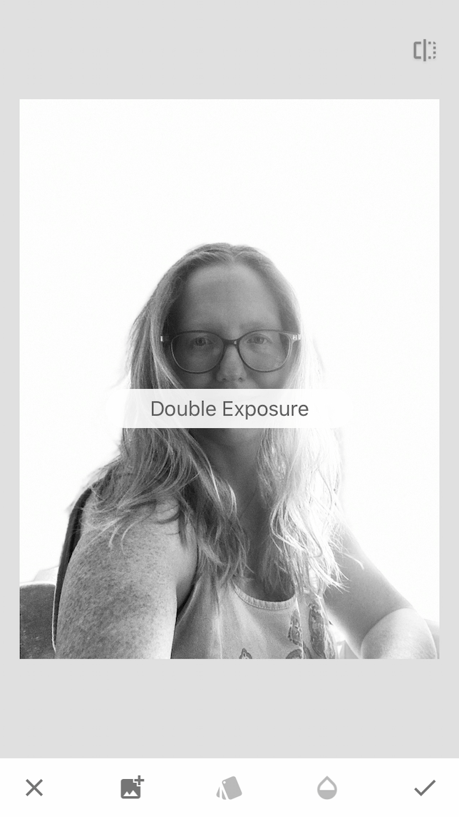 How to make a double exposure photo with Snapseed
