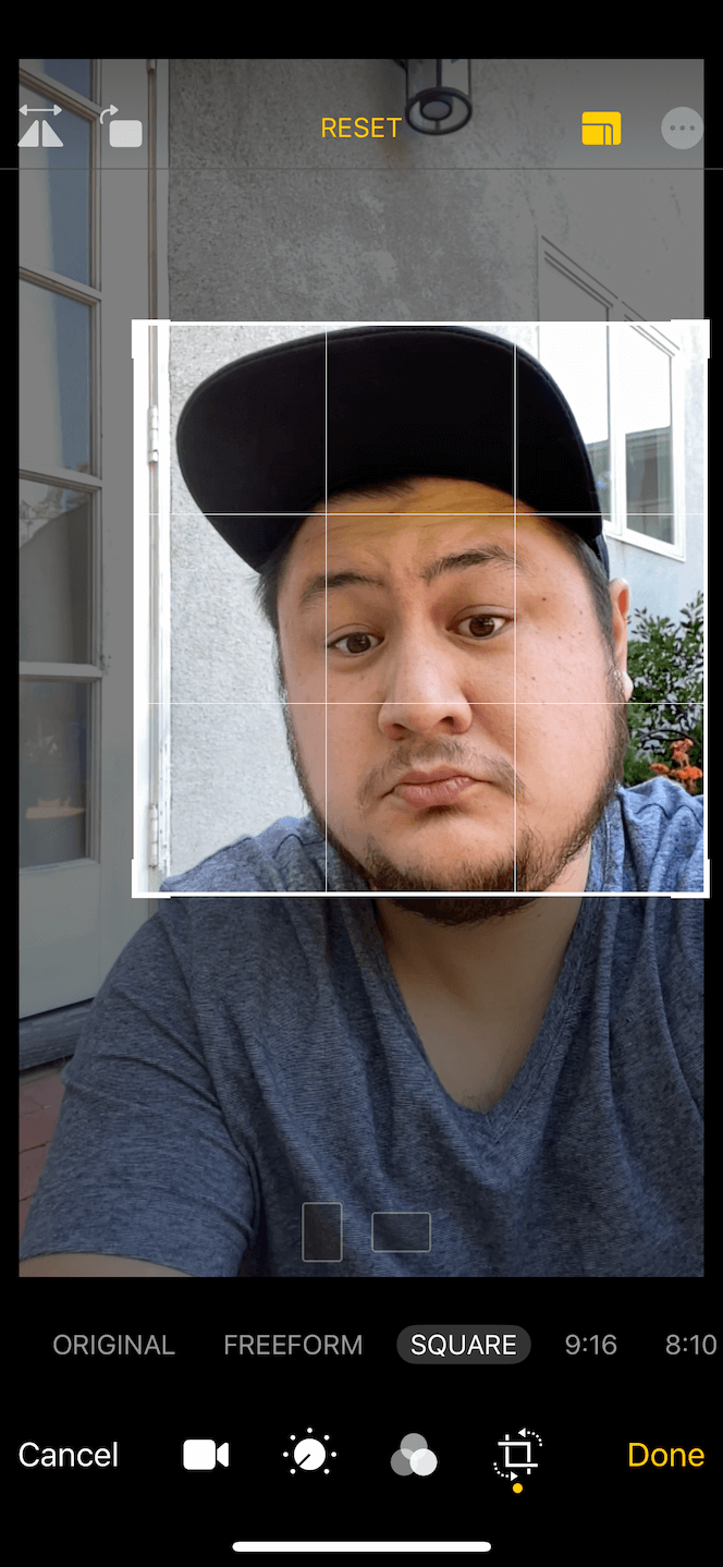 How to straighten a Slo-Mo selfie on iPhone 11