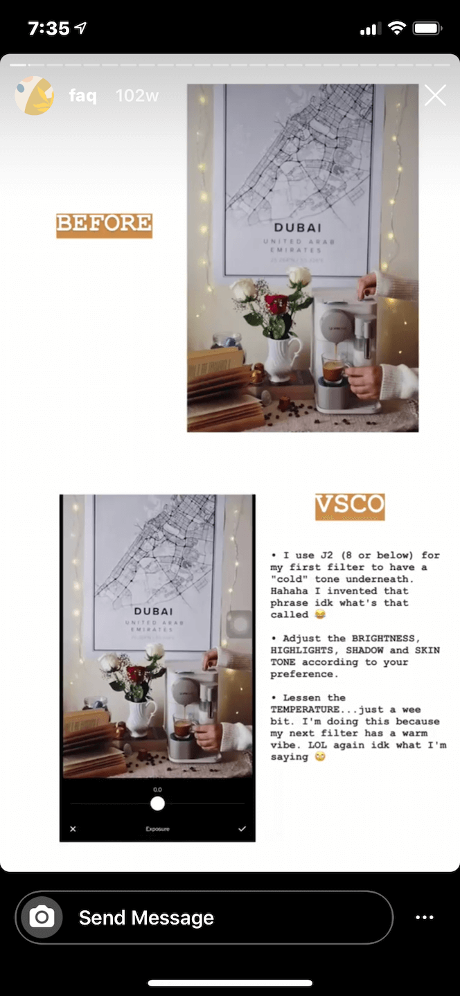 VSCO, one of the best photo editing apps for Instgaram
