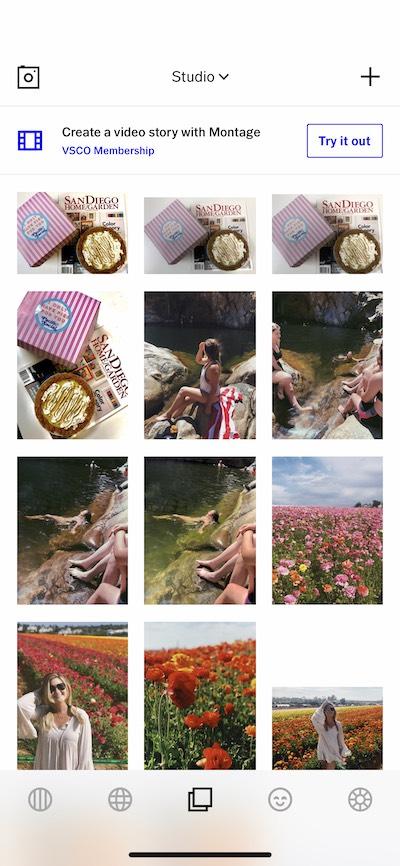 VSCO, an Instagram photo editor