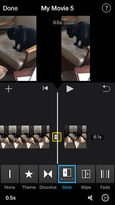 How to add a transition to an iMovie video