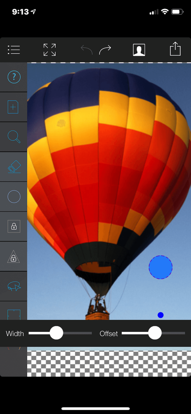 A photo background eraser app for iPhone
