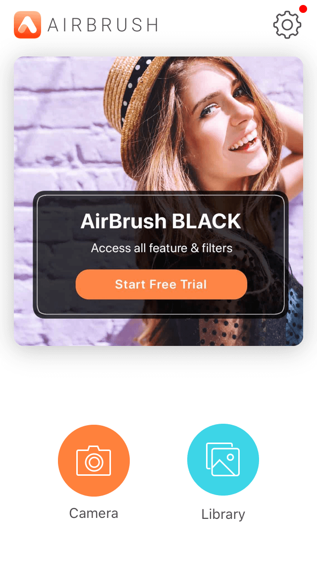 AirBrush, a retouching app for iPhone portraits