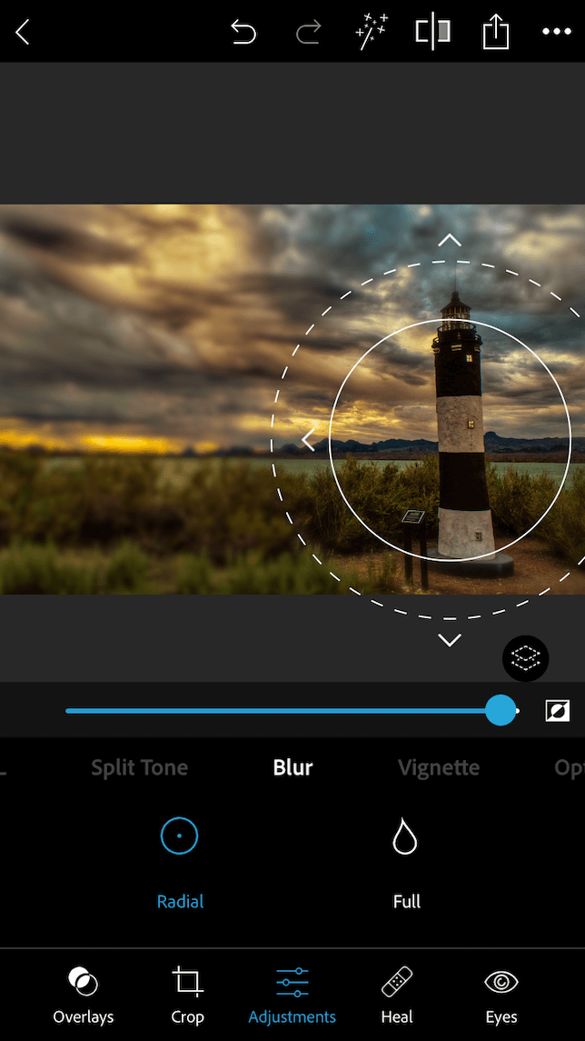 How to blur photos on iPhone with Photoshop Express