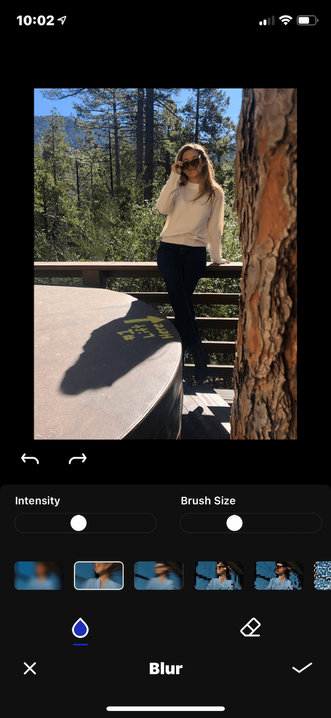 A photo background blur app for iPhone