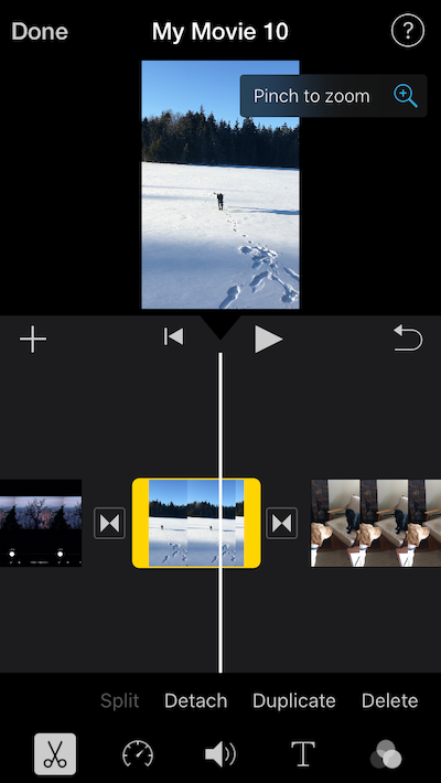 How to crop an iMovie clip