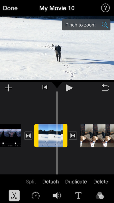 How to crop an iMovie video
