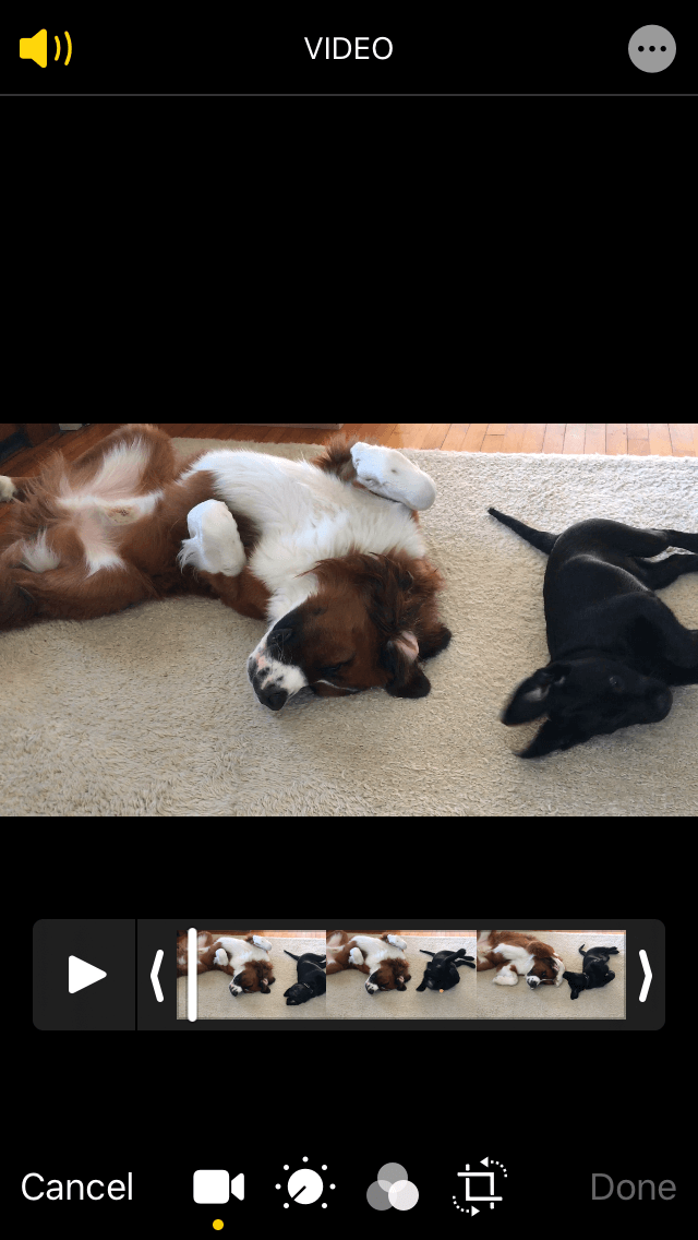 How to make a horizontal iPhone video vertical