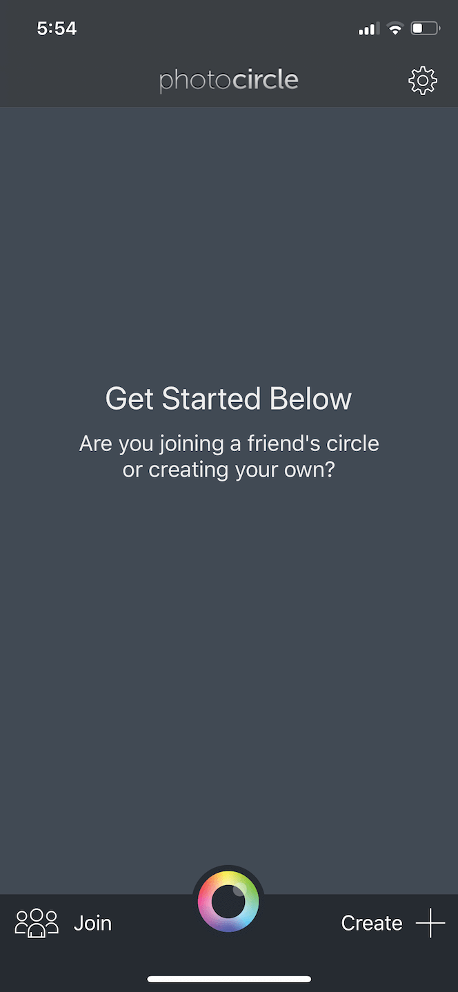 Photo Circle, a picture sharing app for iPhone