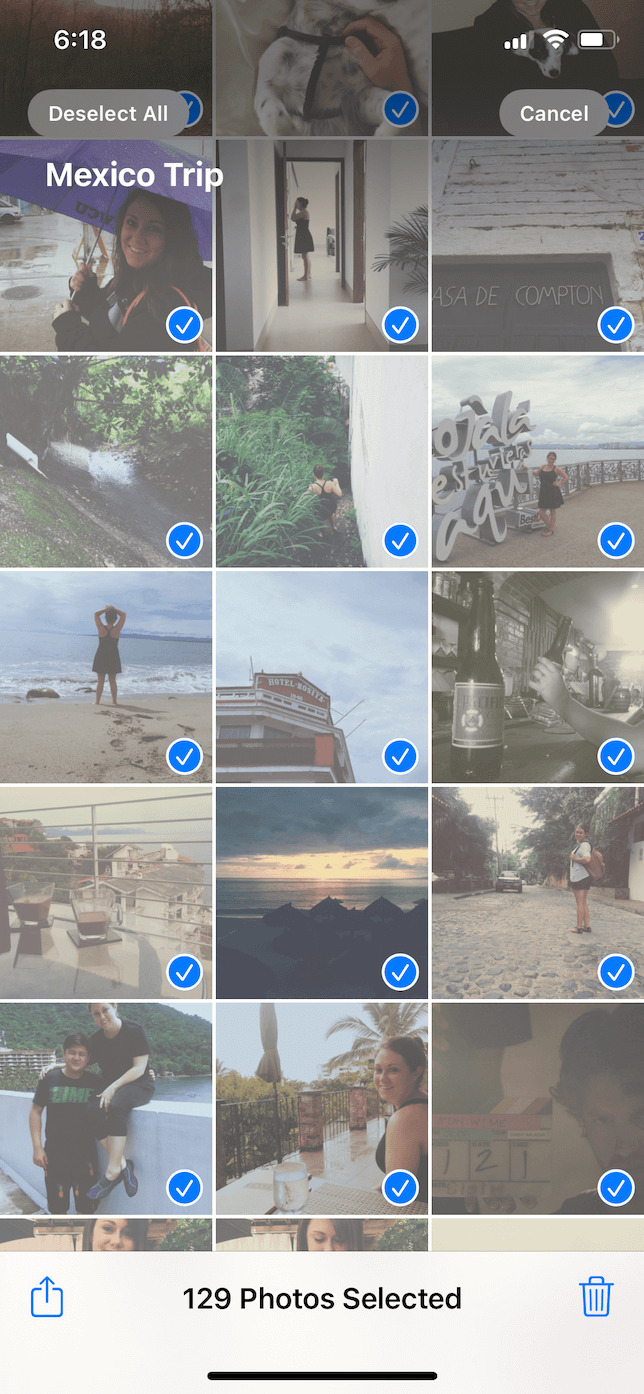 How to delete photos from an album on iPhone