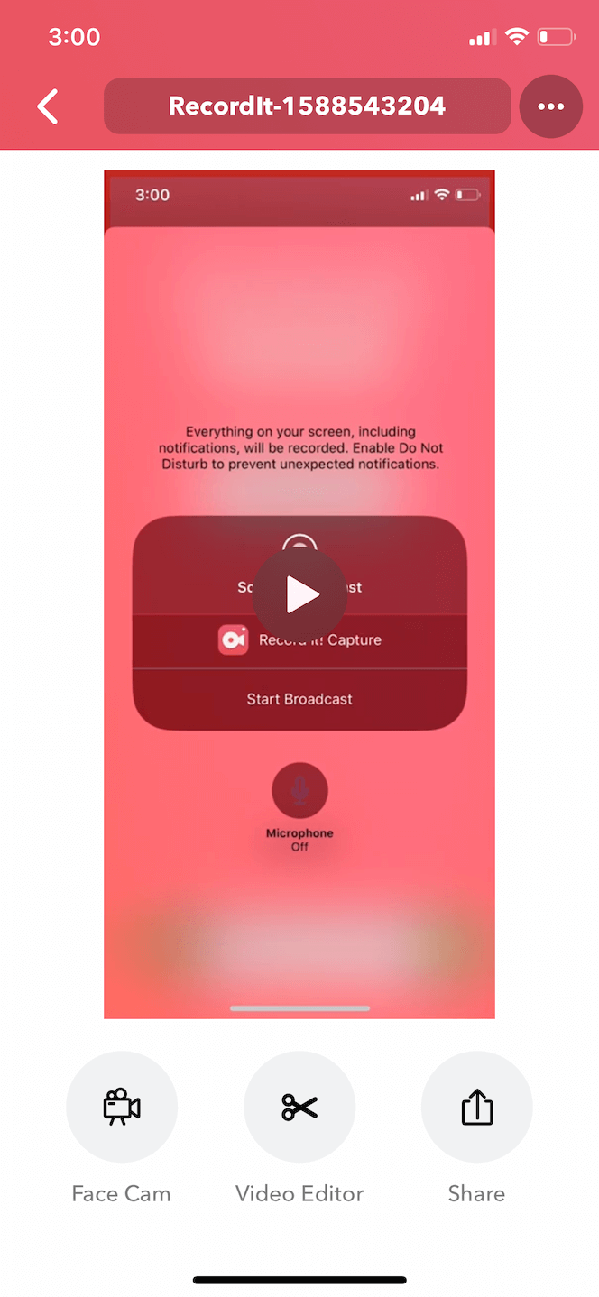 Record It, an app to record and broadcast on iPhone