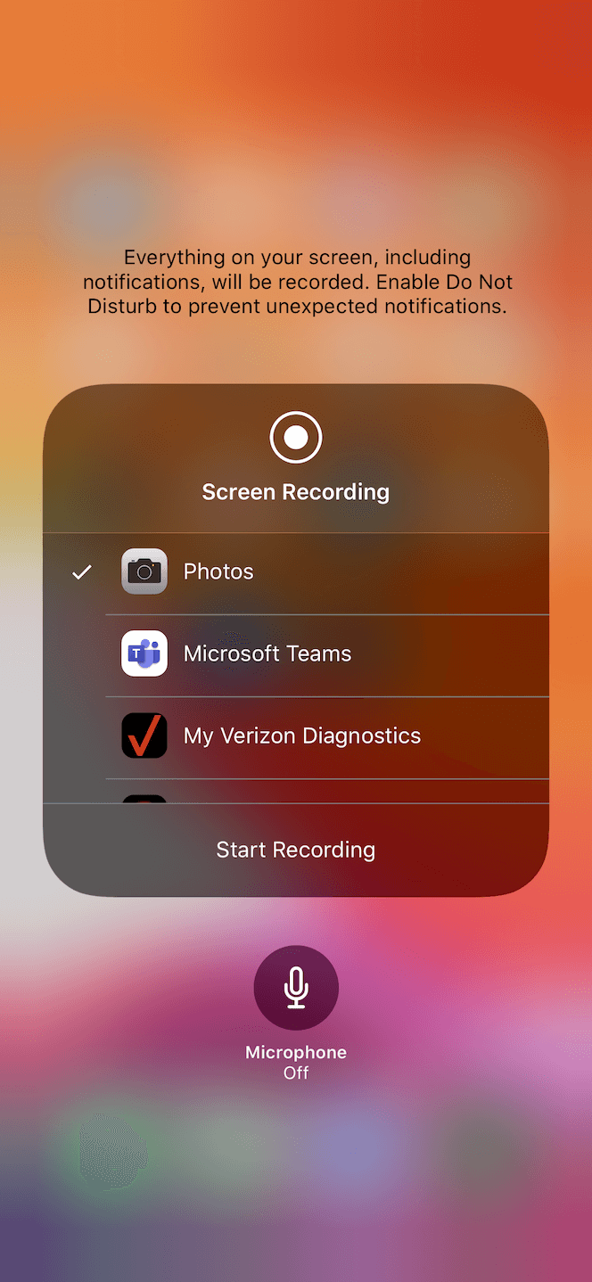 How to record your screen on iPhone with sound