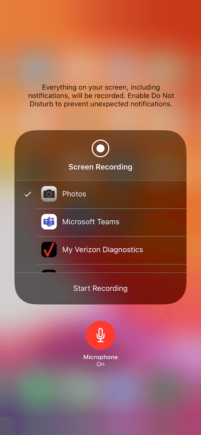 How to make an iPhone screen recording with audio