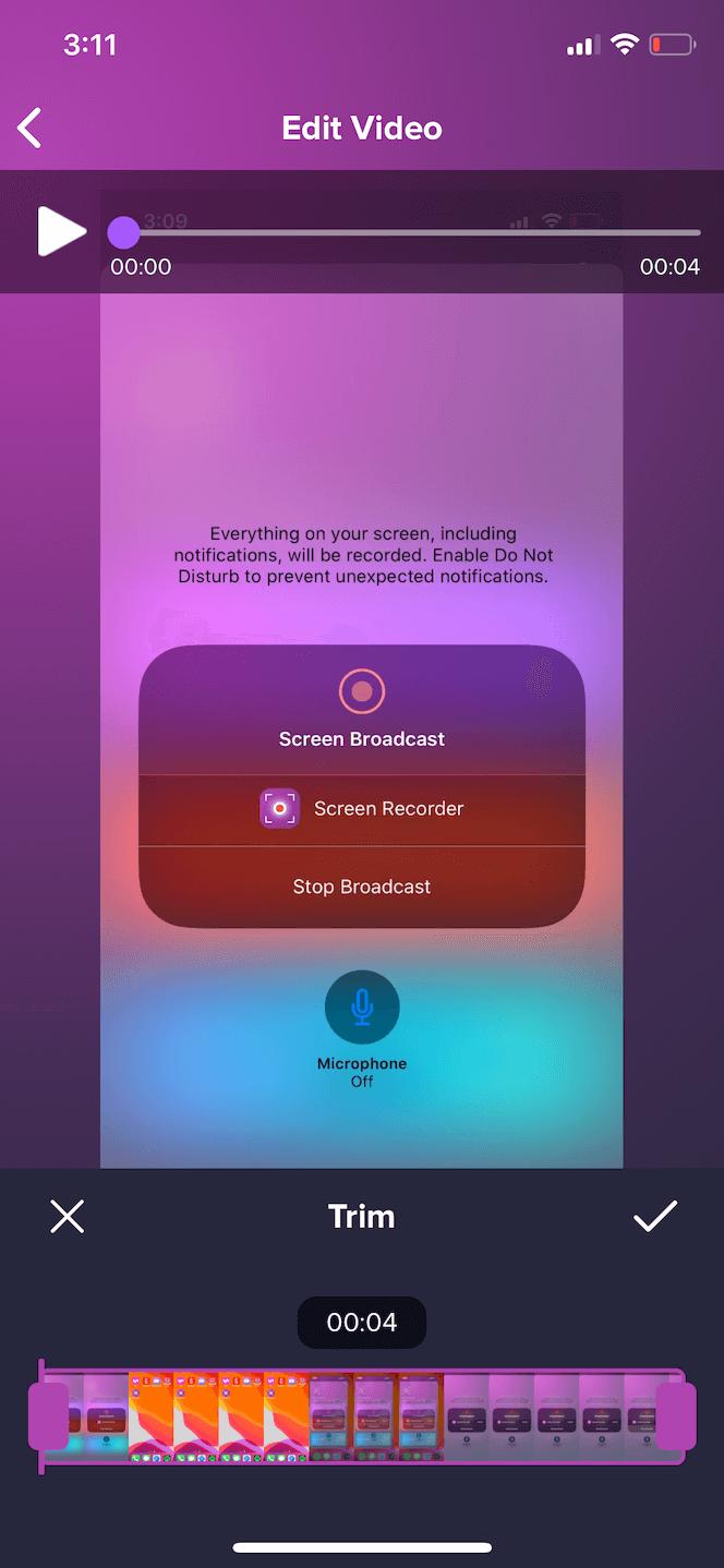 Screen Recorder Pro, an iOS recorder app with facecam