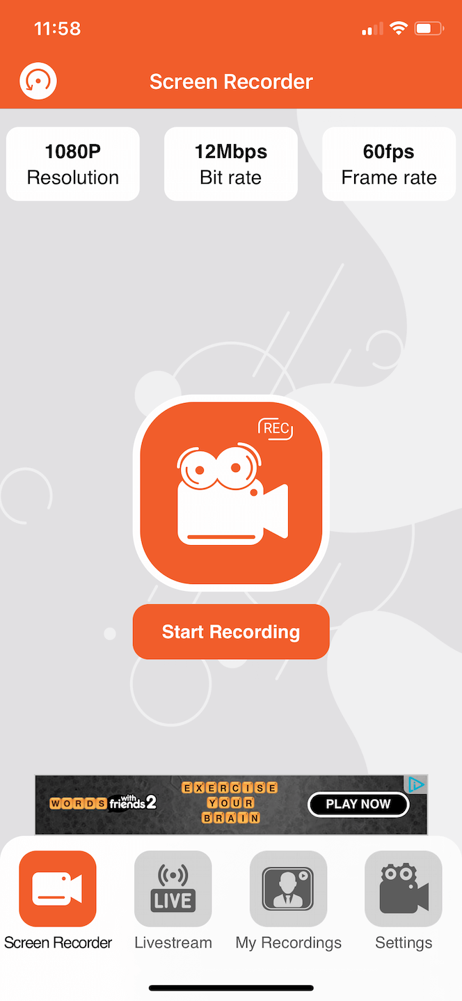 A video screen recorder for iPhone