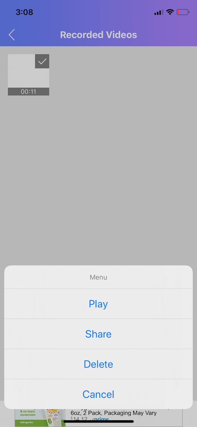 Web Recorder, an iPhone screen recorder app