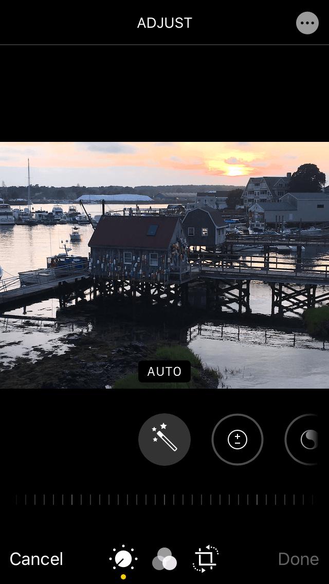 How to adjust brightness with the iOS Photos app