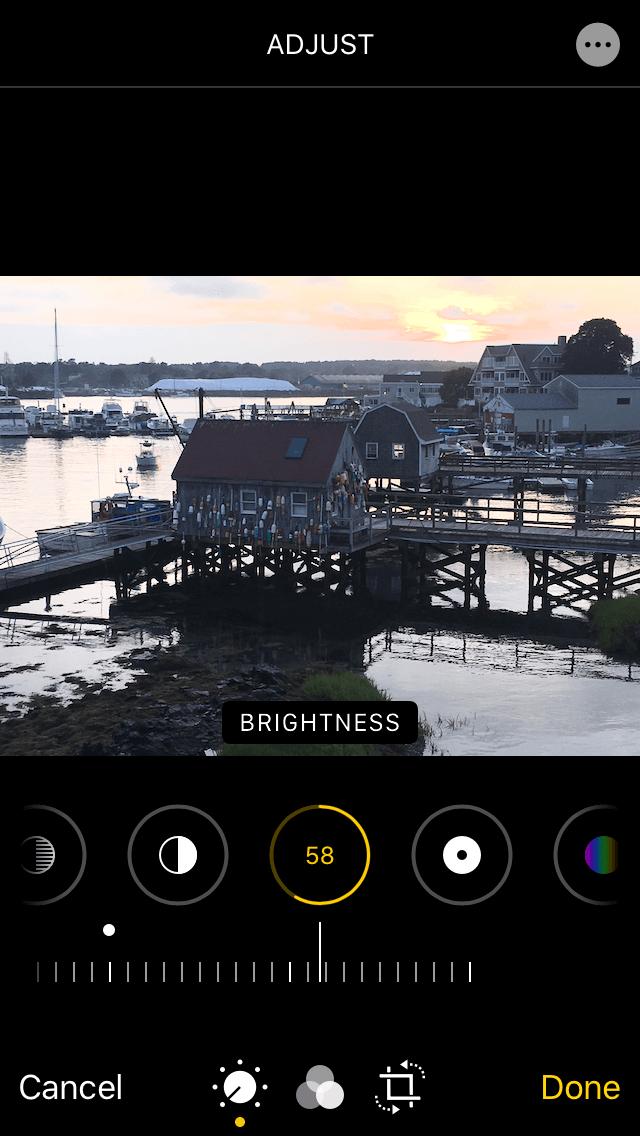How to tweak brightness on iPhone photos